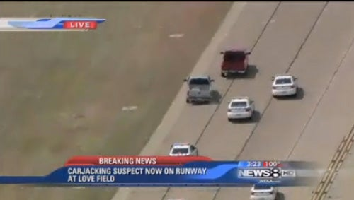 Carjacker Leads Police Chase Onto Dallas Airport Runway