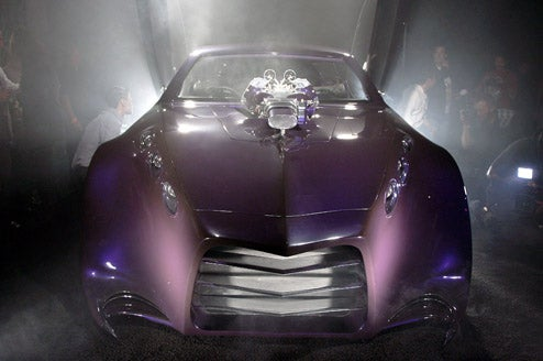 Galpin Scythe Condenses SEMA Into Giant Purple Caricature