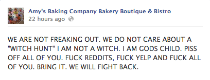 Watch These Horrid Restaurateurs Have a Total Facebook Meltdown