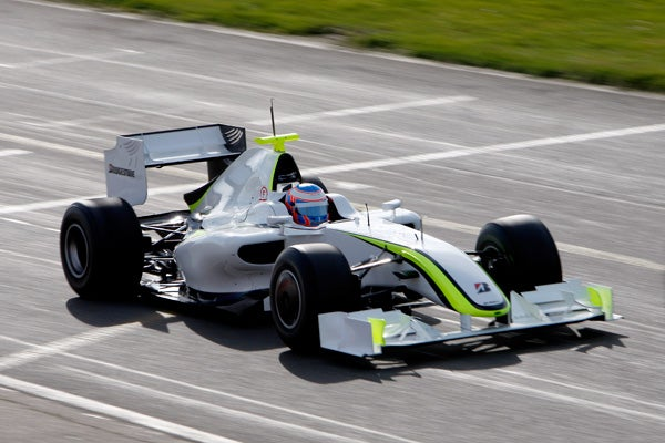 First Footage of Brawn GP Car Testing in Barcelona