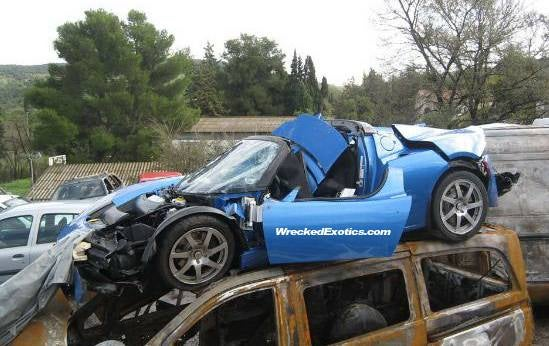 Tesla Roadster Has Fastest Crash Yet In France