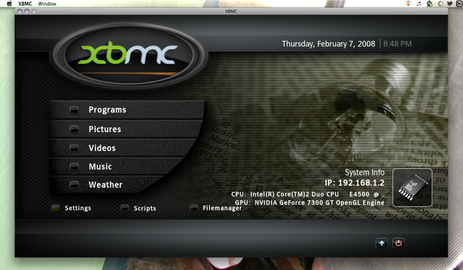 XBMC Finds a Home on Your Mac