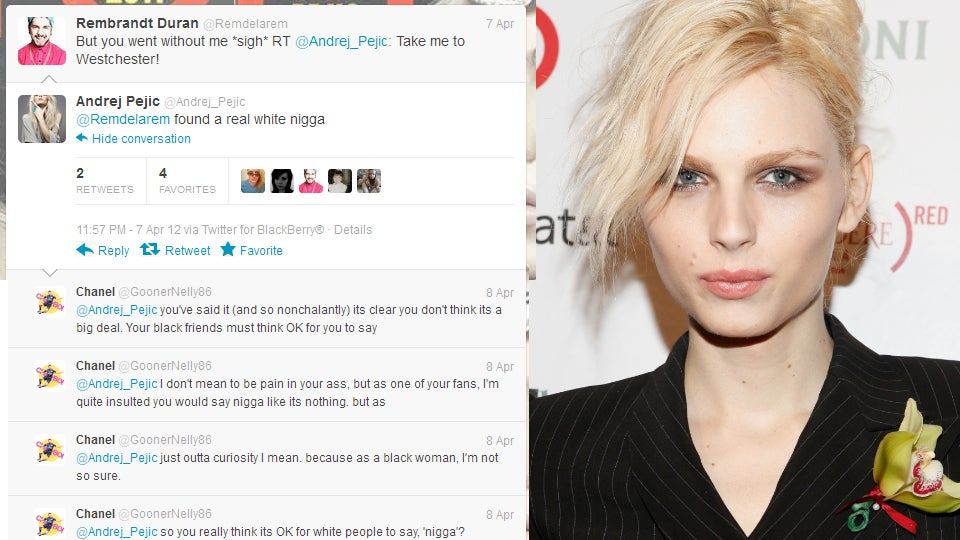 Andrej Pejic Pisses Off Fans By Dropping the N-Bomb
