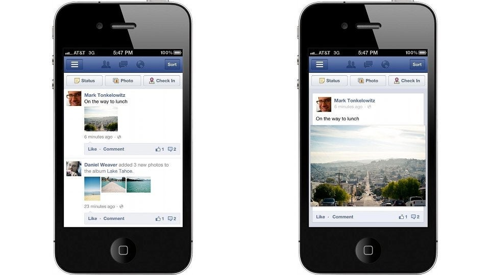 Facebook's New Mobile News Feed Has Instagram's Fingerprints All Over It