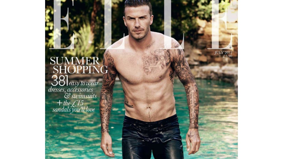 David Beckham Is the First Man to Make the Cover of British Elle