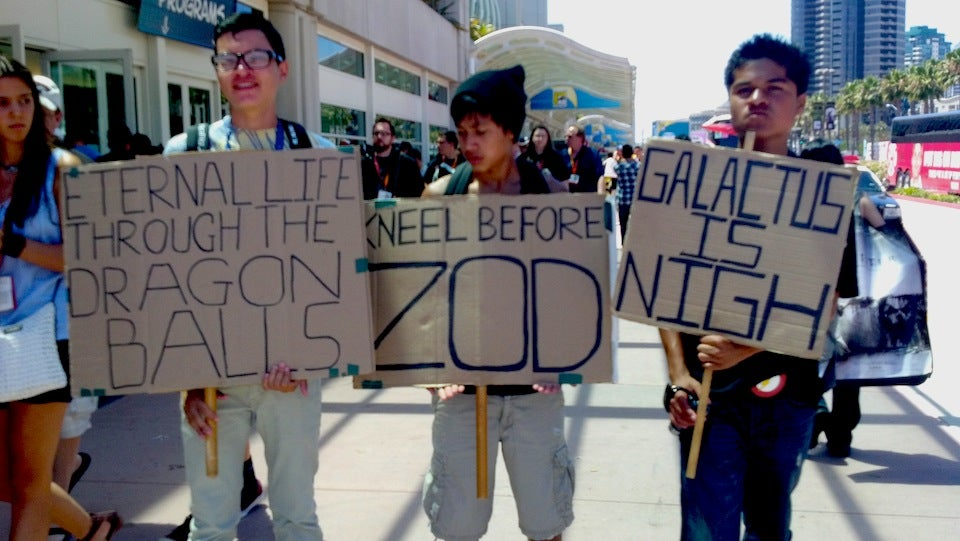 Galactus is Nigh: Counter-Protestors Warn of the Comic-Con Apocalypse