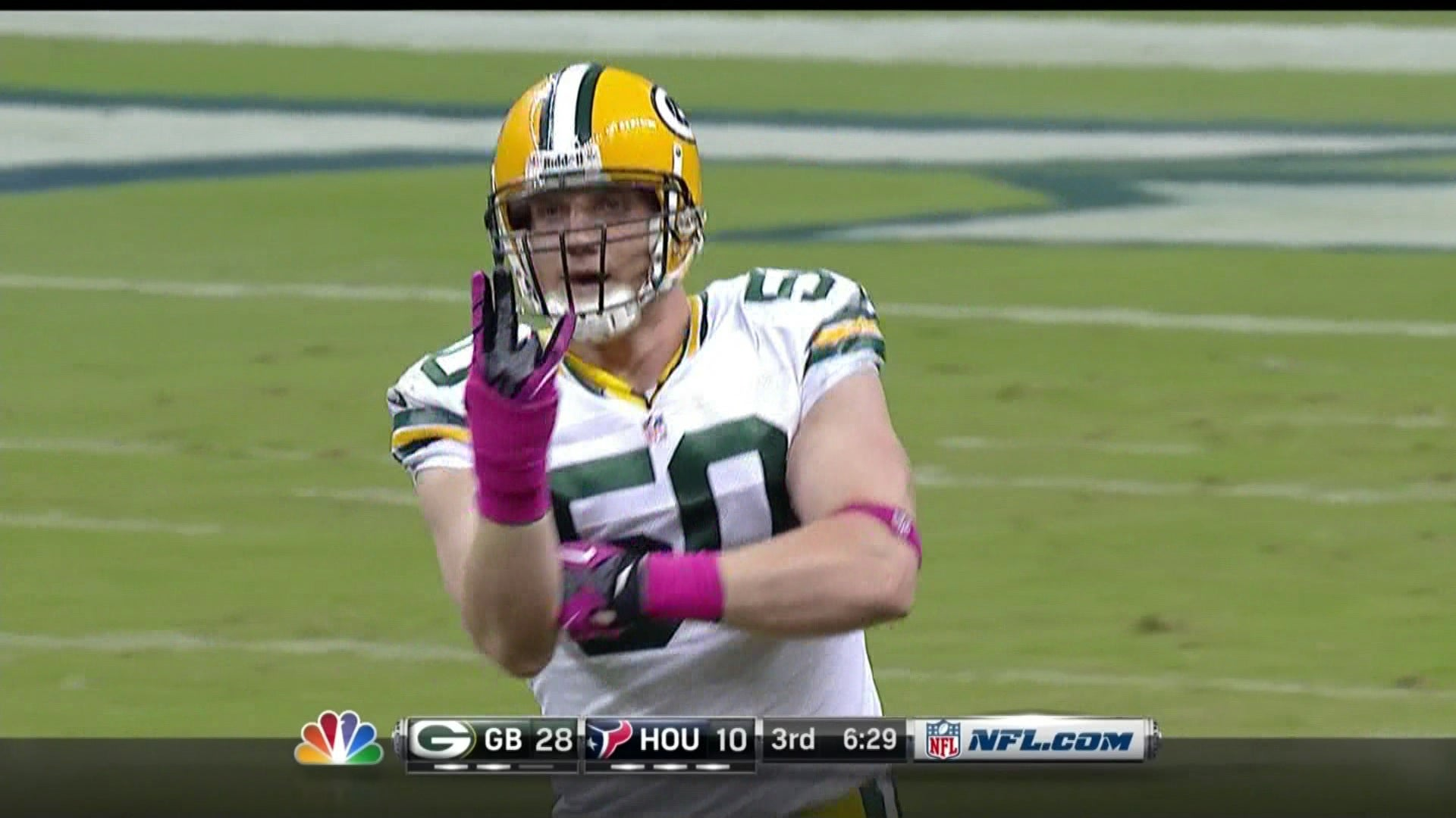 Aaron Rodgers Threw For Six Touchdowns, But It Was A.J. Hawk's Performance That Was Truly Shocking