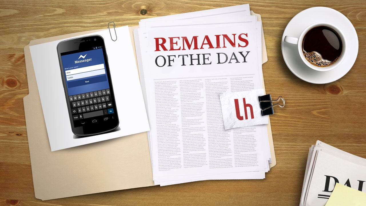 Remains of the Day: Facebook Messenger Looks to Replace SMS