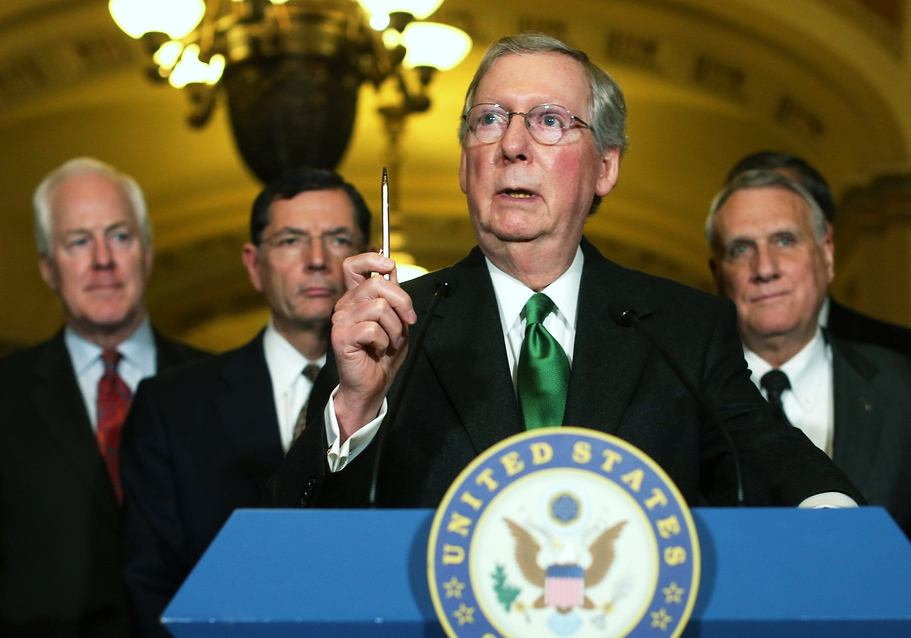 Senate Hits New Low as Mitch McConnell Filibusters Himself