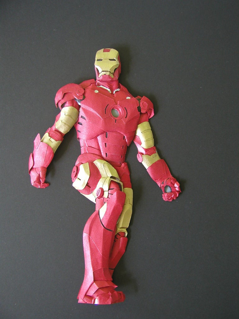 Iron Man, Captain America and More as Beautiful Paper Sculptures