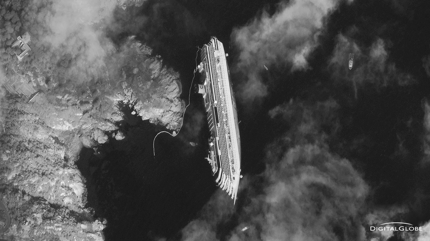 The Italian Sunken Ship From Space Looks Surreal