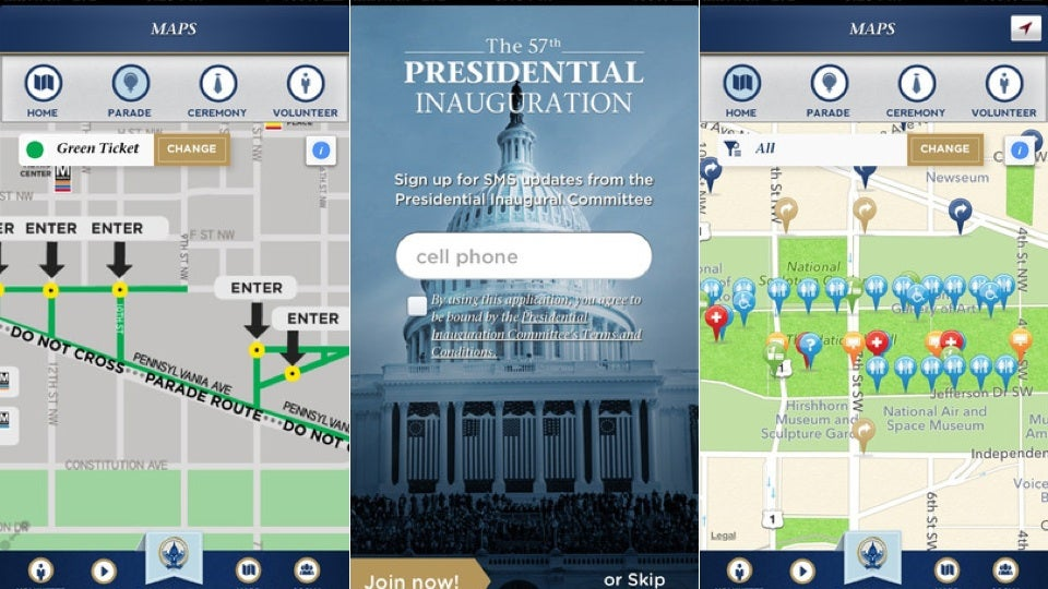 Can't Go to D.C. Next Week? Follow The Inauguration From Your Phone