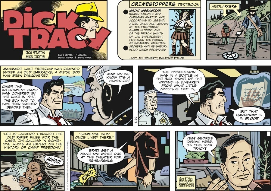 Dick Tracy's newest partner-in-crime-fighting is none other than George Takei