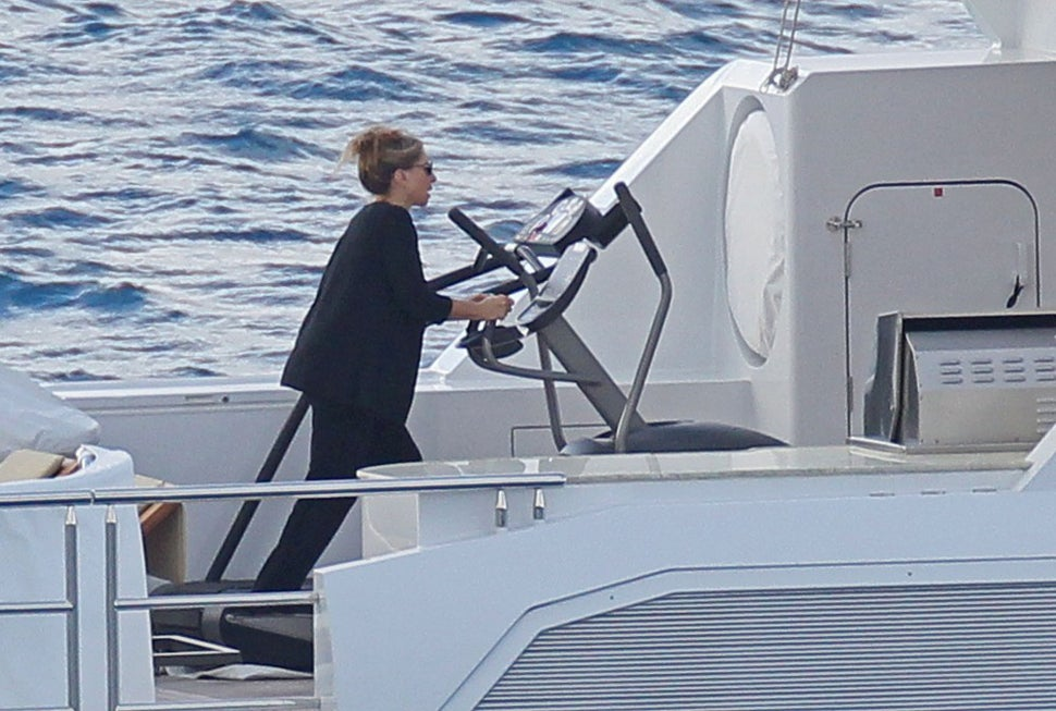 Behold: Barbra Streisand Works Out On A Yacht
