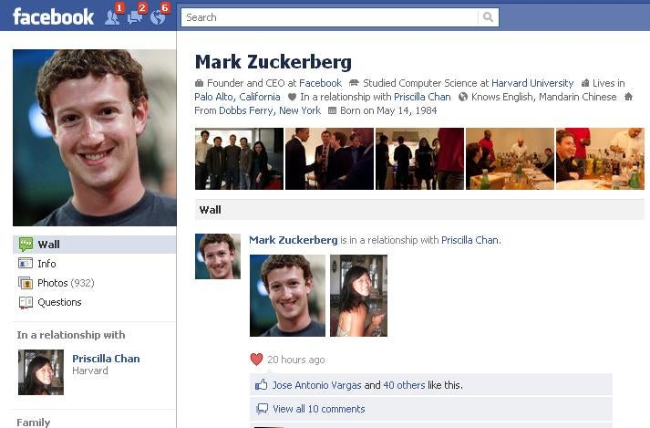 Mark Zuckerberg Is Now 'In a Relationship'