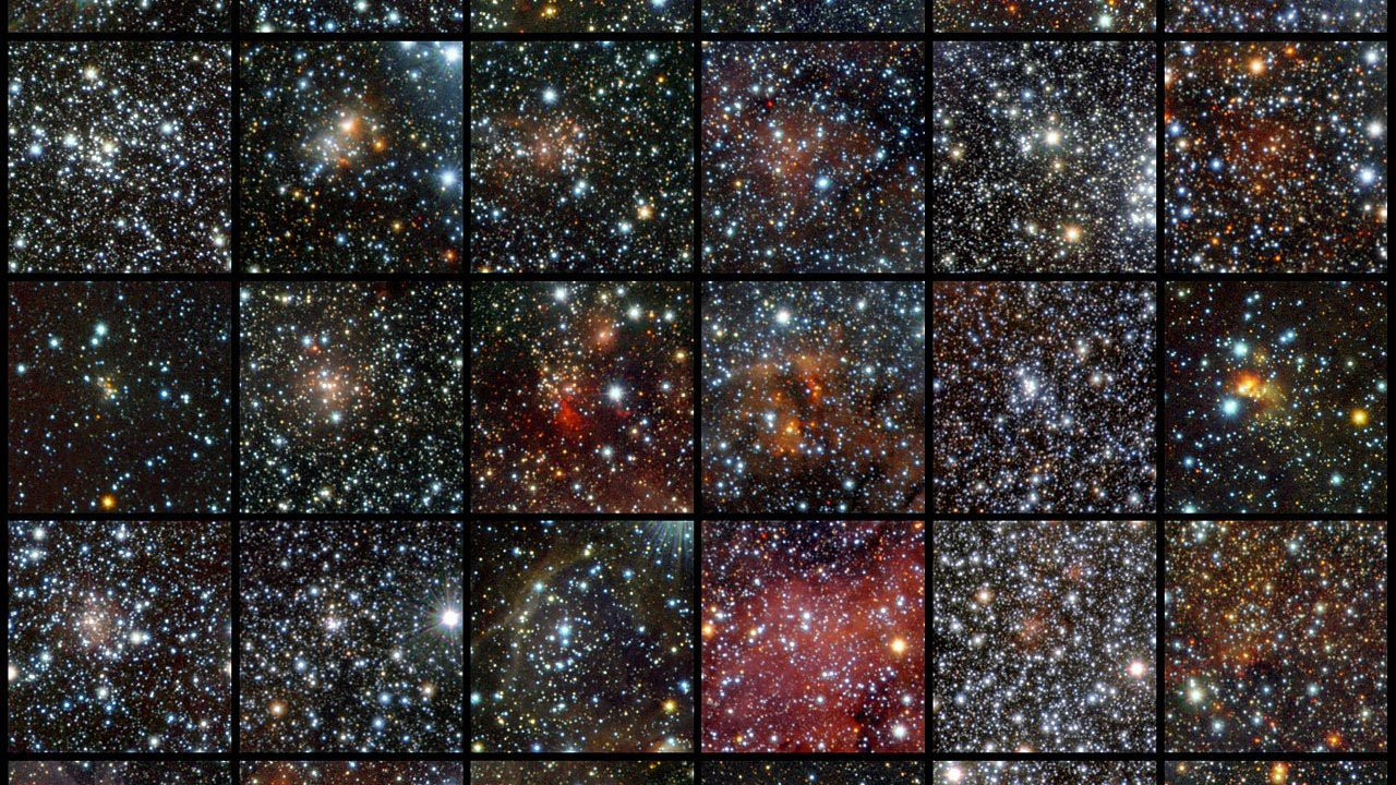 96 new star clusters found hiding in the cosmic dust