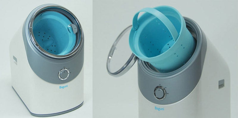 Baguni Washing Machine Takes In Entire Laundry Baskets