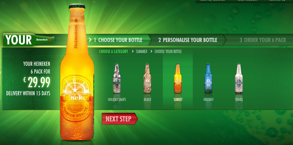 Drink From Your Own Customized Heineken Bottle