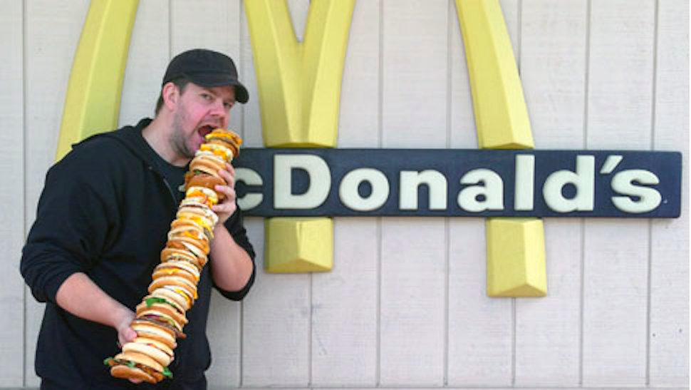 "Man Spends $140 at McDonald's and Makes ""McEverything"""