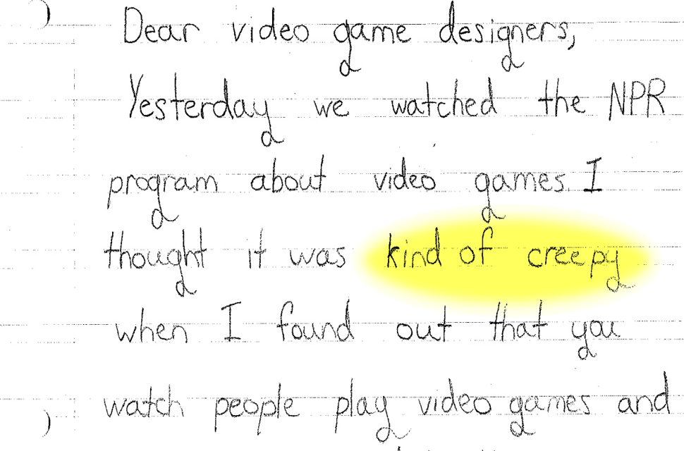 ​Third-Graders Really Don't Like Video Games Tracking What They Do