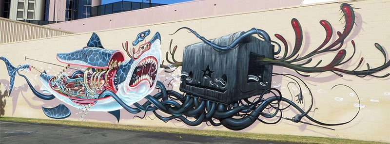 Fascinating murals show the funky anatomy of animals