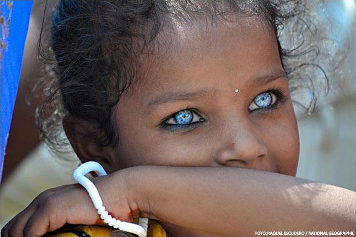 Early Europeans had dark skin and blue eyes