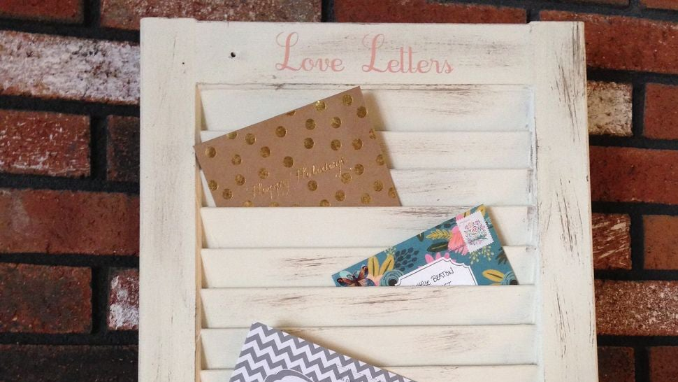Transform an Old Window Shutter into a Mail Organizer