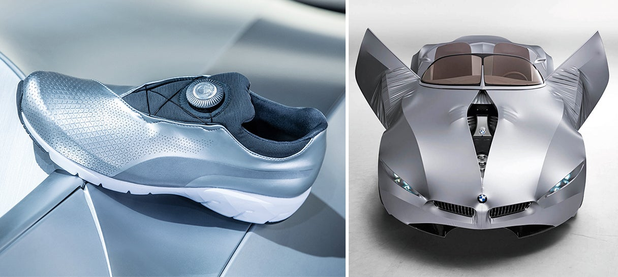 automotive bmw design driving gina puma shoes sneakers sports