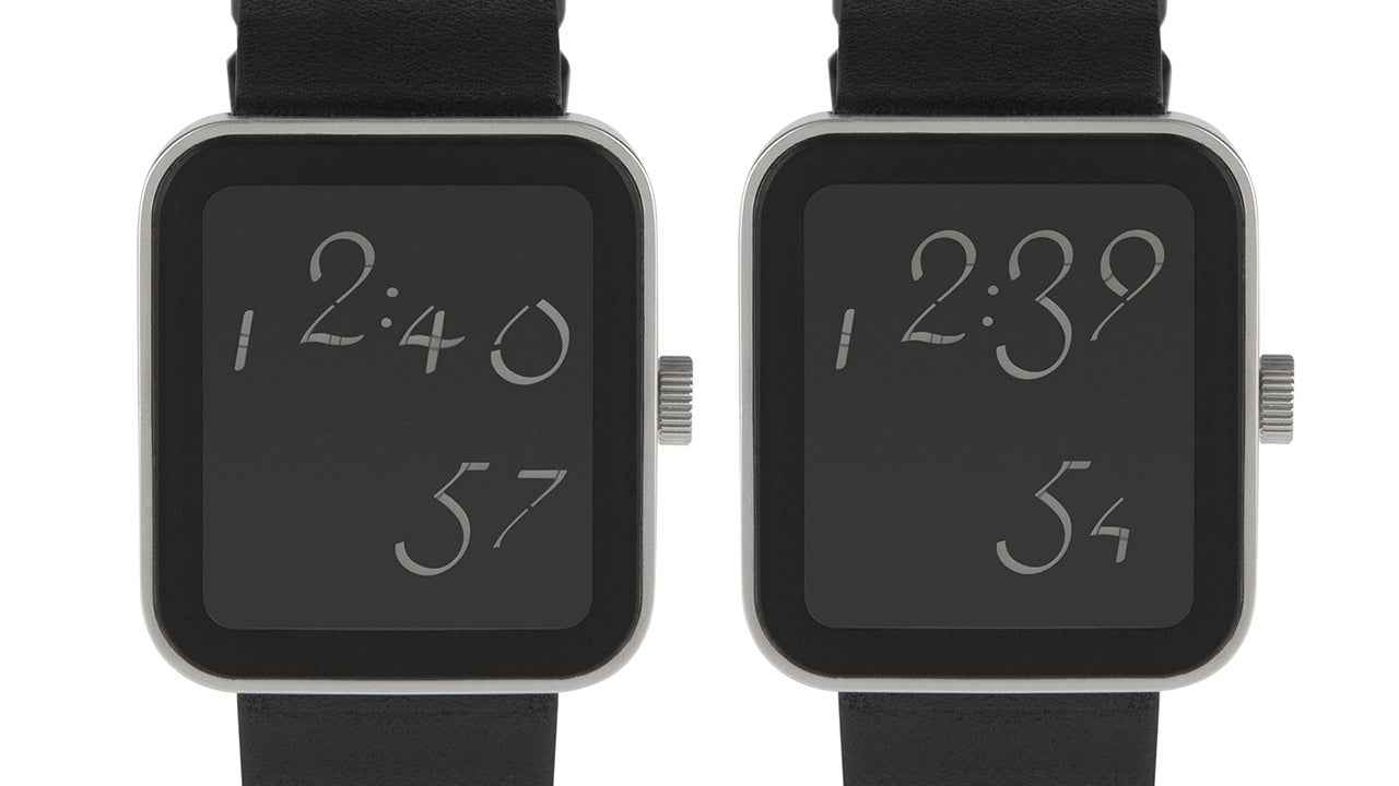 A Simple Digital Watch With a Stylish Handwritten Font