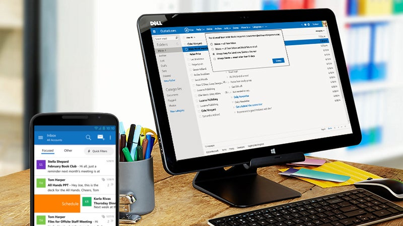 au feature microsoft office outlook