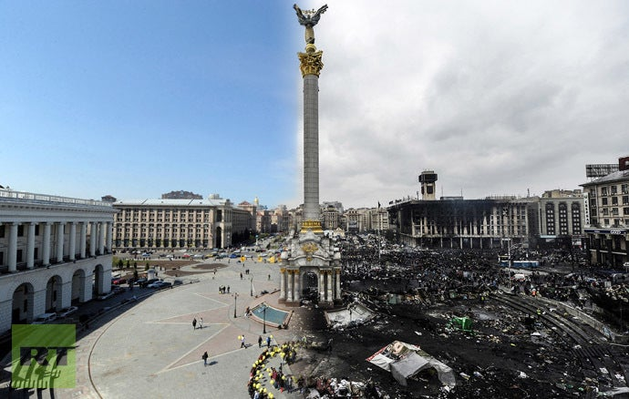 These incredible before and after shots of Ukraine are terrifying