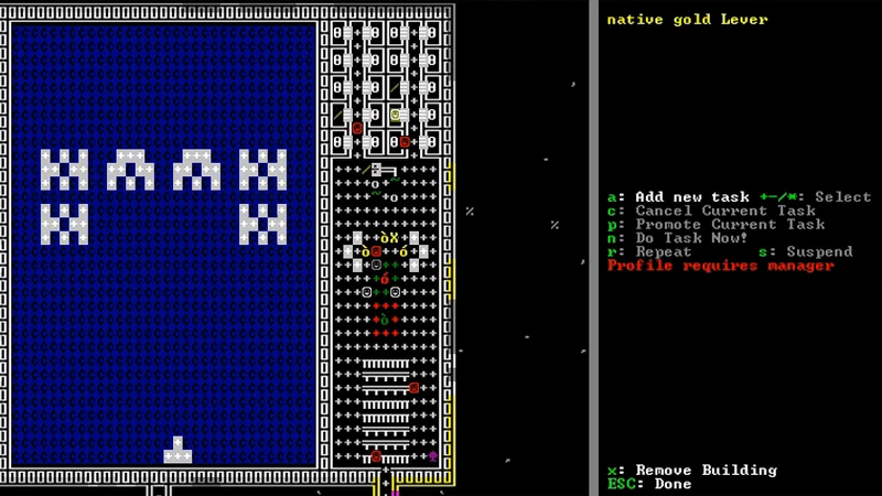 dwarf-fortress space-invaders video
