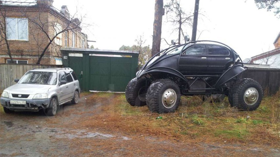 What the hell is this crazy giant Russian batmobile?