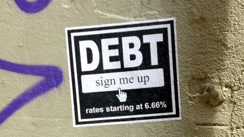 debt saving-money