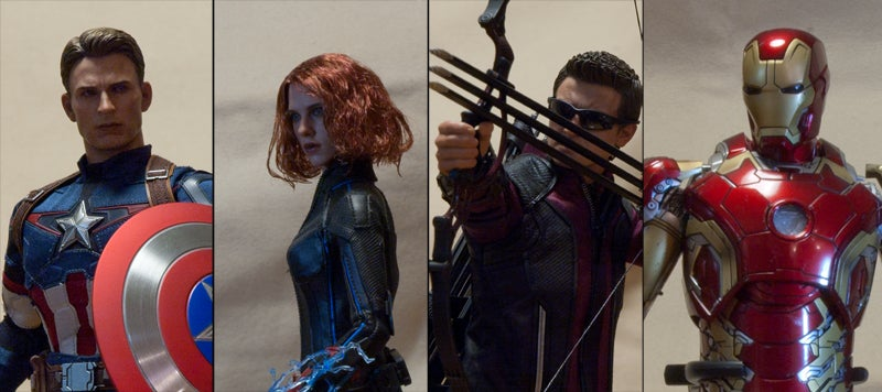 avengers avengers-2-age-of-ultron black-widow captain-america hawkeye hot-toys iron-man iron-man-mark-xliii japan sideshow-collectibles
