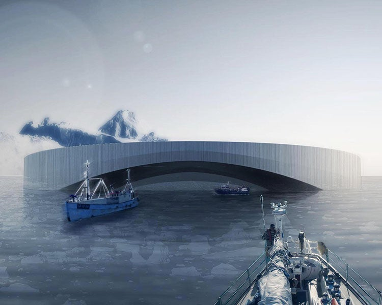 A Floating Arctic City Fueled By Eating Icebergs
