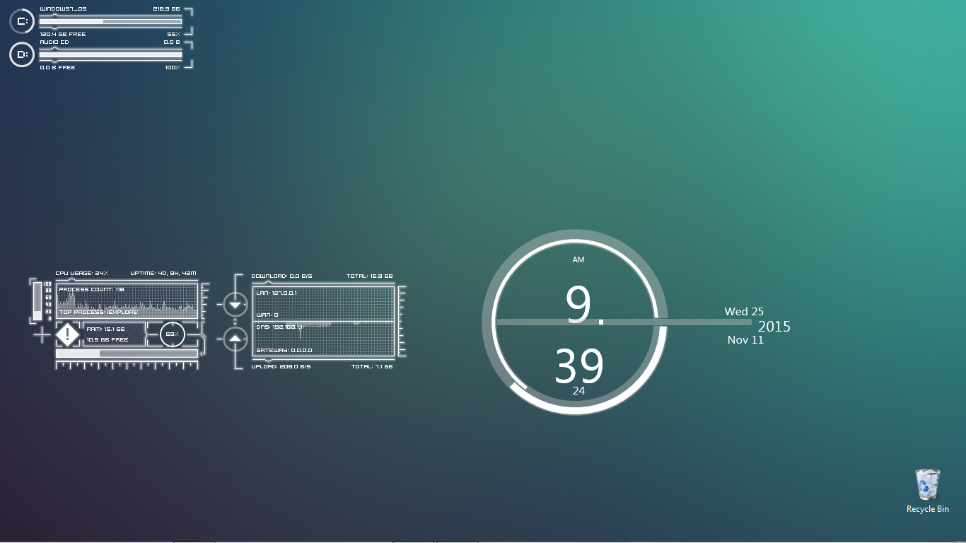 customisation desktops featured-desktop hud personalization rainmeter skins themes wallpapers windows