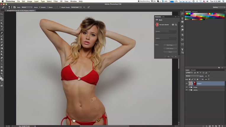 Reverse Photoshop Turns Bikini Model Into Something Even Cheesier