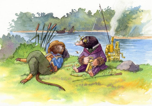 Steampunk <em>Wind in the Willows</em> illustrations are bursting with charm