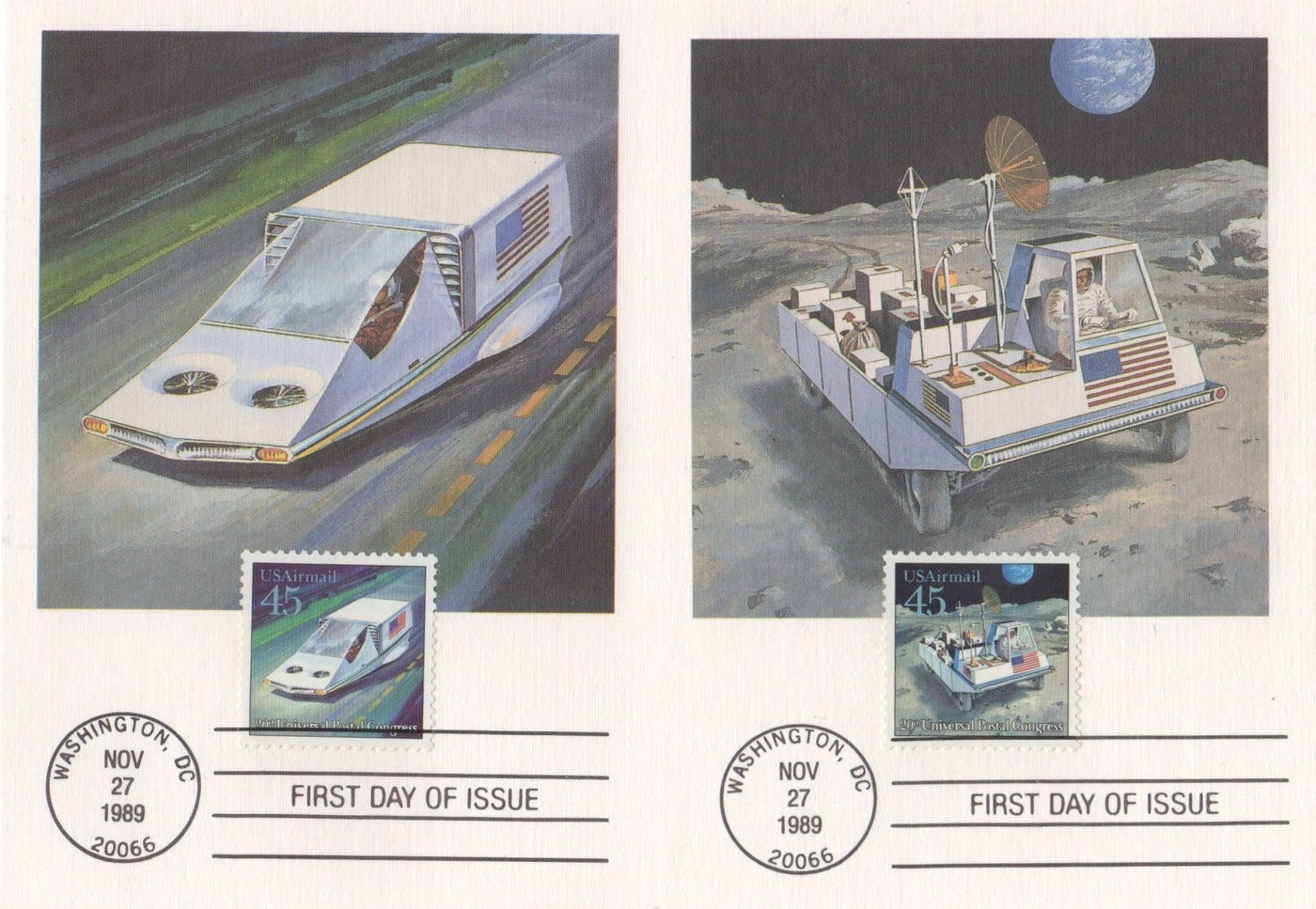 paleofuture space-travel stamps us-postal-service
