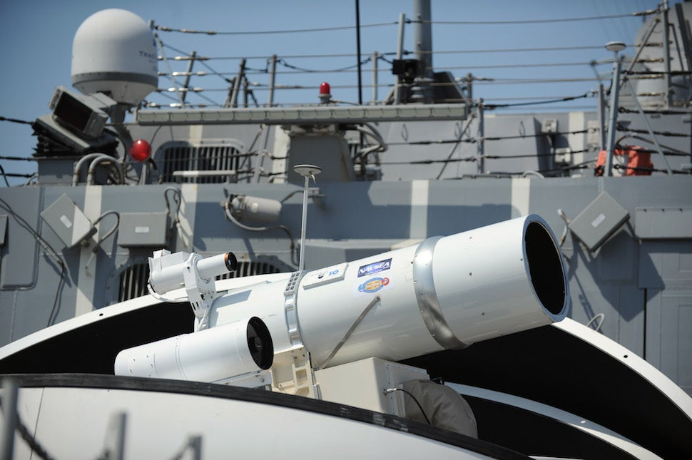 The future of war is here: US Navy is getting giant lasers on a ship