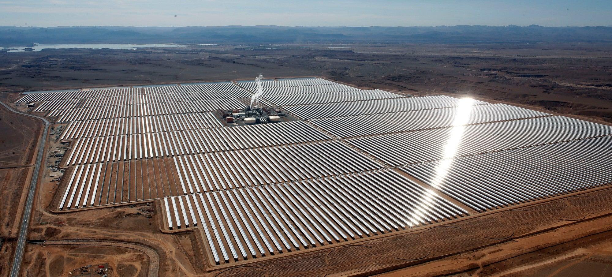 electricity energy morocco ouarzazate solar-power