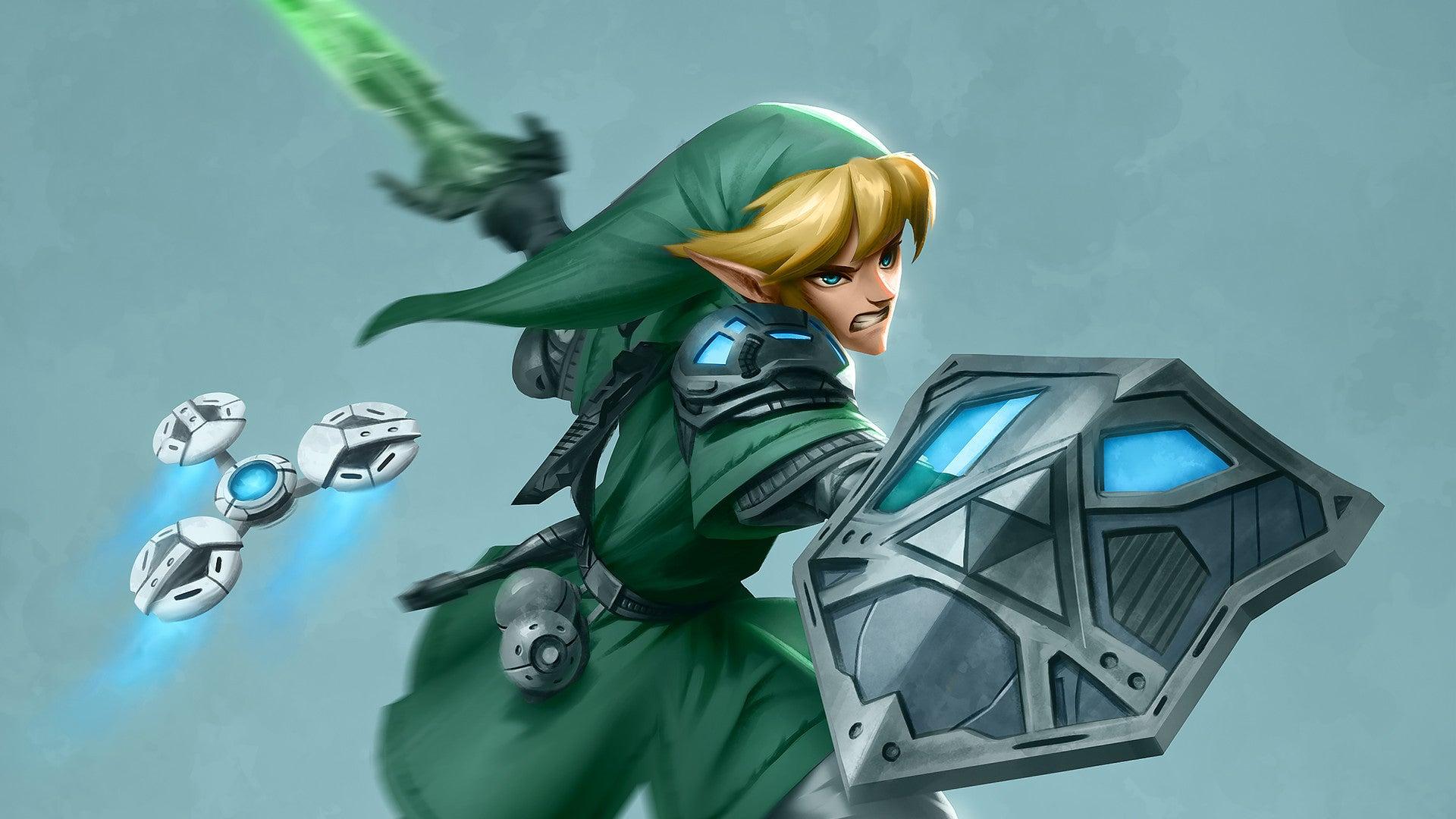 art character-art dayshot fanart link sci-fi scifi zelda