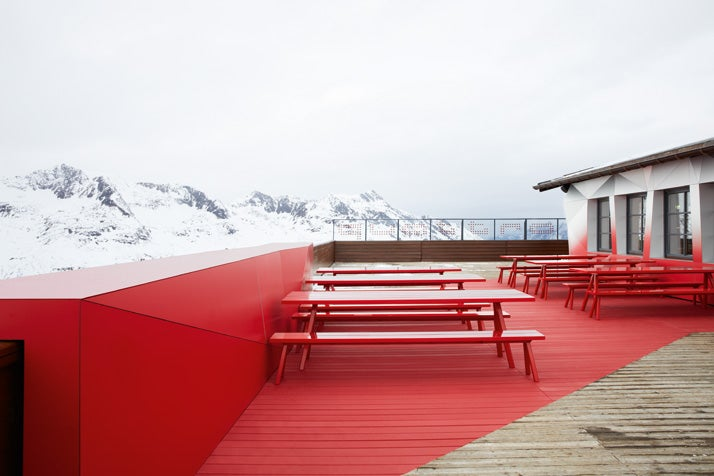 This Audi Ski Lodge Is Being Eaten By a Glitch From the Future