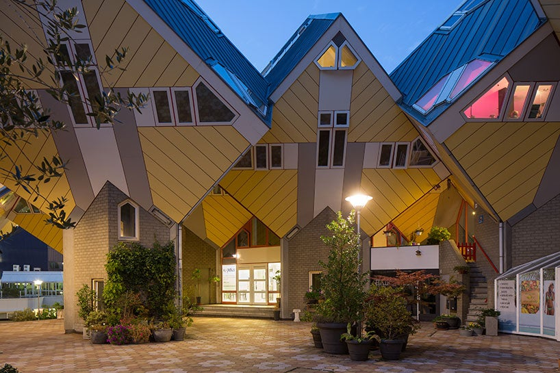 Off-Kilter Cube Houses Creatively Renovated Into Homes for Ex-Cons