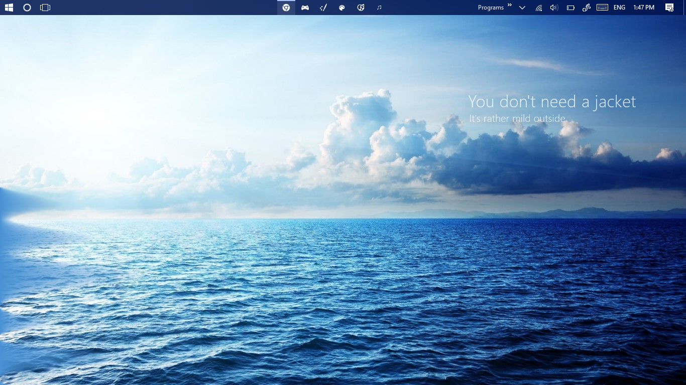 The Calm, Blue Desktop