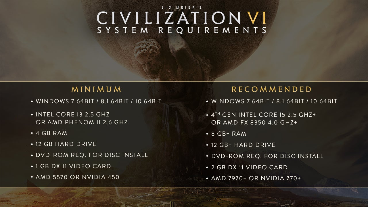 2k civ-6 civilization civilization-vi system-requirements system-specs
