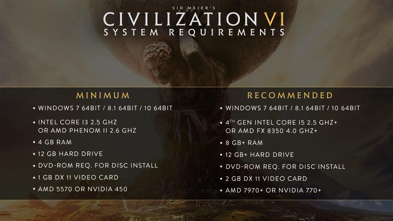 2k civ-6 civilization civilization-vi system-requirements system-specs