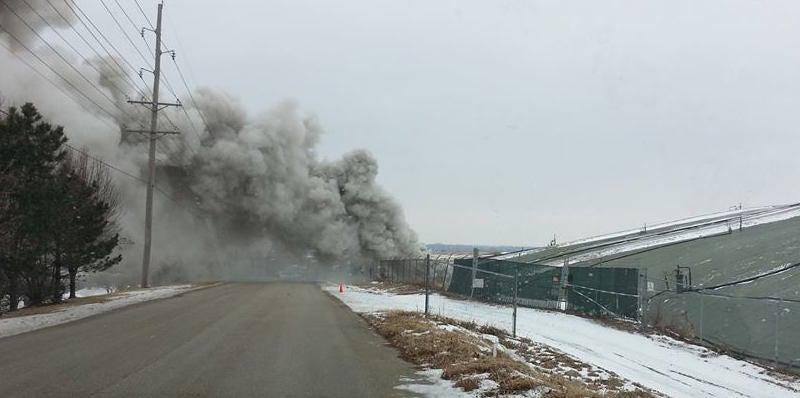 fire garbage landfills