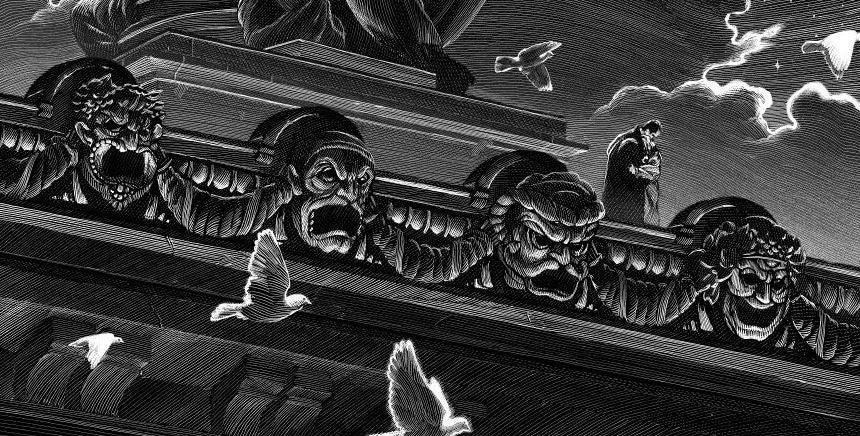 art dark-hall-mansion io9 lon-chaney movies nicolas-delort posters the-phantom-of-the-opera